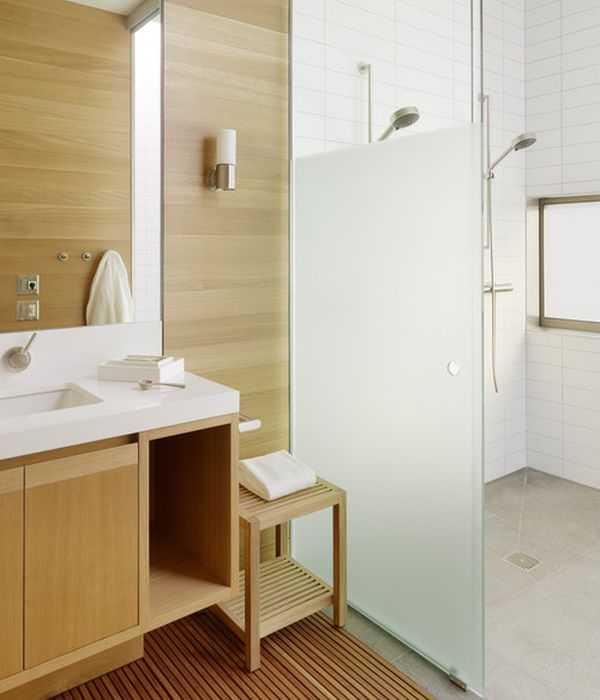 36 banheiros modernos e contemporâneos + dicas de cores e revestimentos!  De -> Banheiros Projetados Modernos