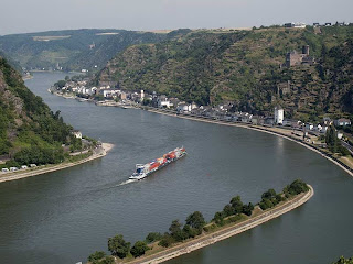 View of Rhine and St Goar seen from Loreley