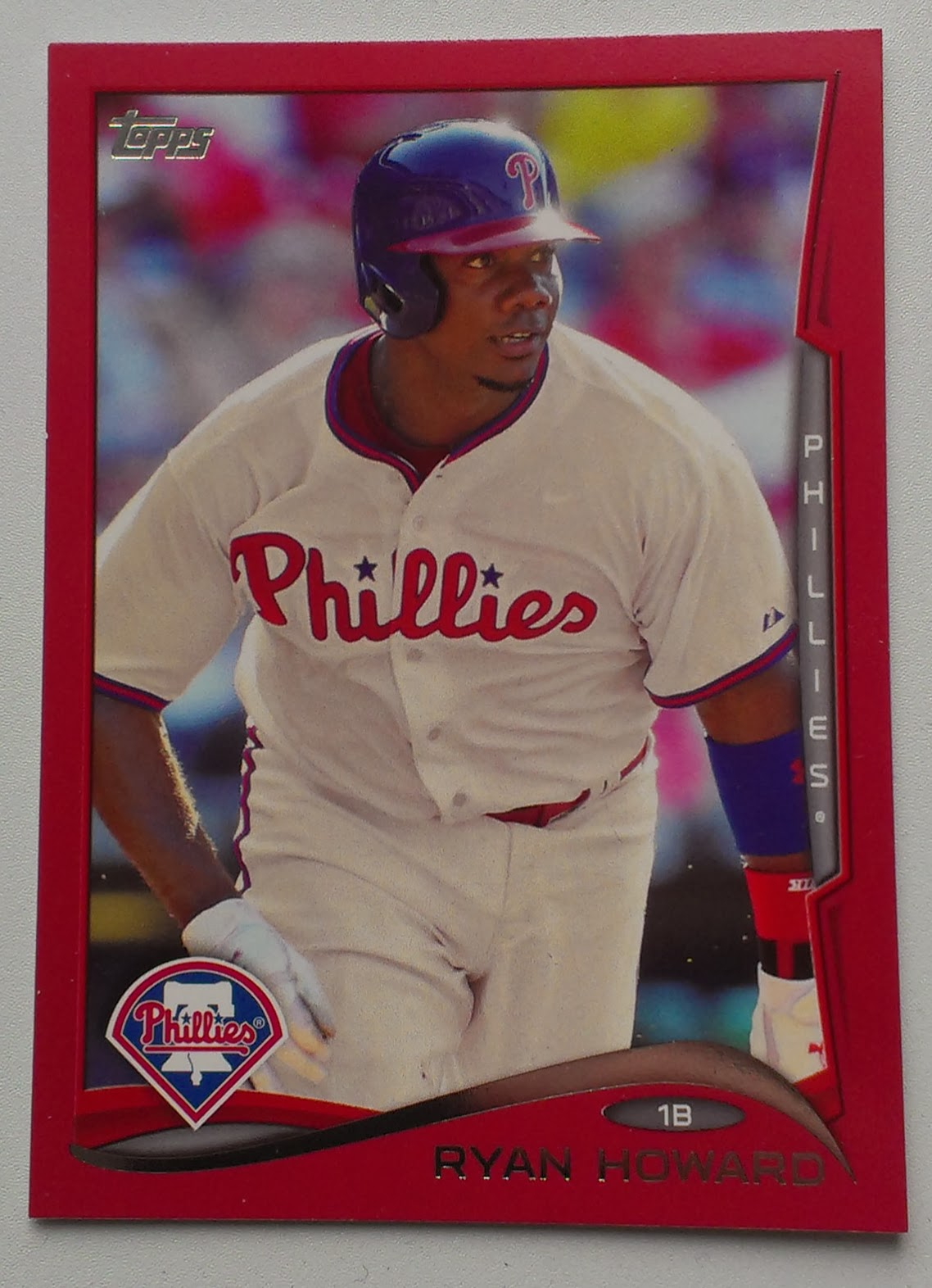 Phillies 2014 Ryan Howard 2014 Topps Target Red 105 NOT A Sparkle