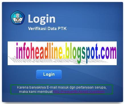 Alamat Baru Cek Data Guru http://223.27.144.195:8082/info.php P2TK Dikdas