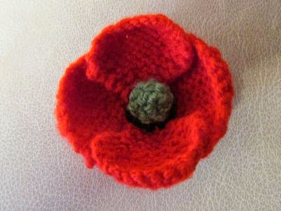 Easy Afghan Knitting Patterns Free : Paulineknit ~ A life of hand knitting : Knitted poppies