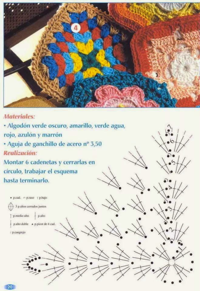 4 Agarraderas multicolores - con patrones en español