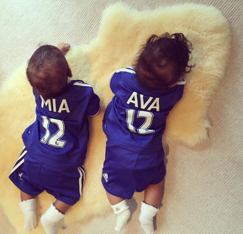 Cute new photos of Mikel Obi's twin girls