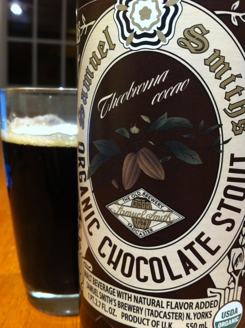 what we're drinking: 537. Samuel Smith's Organic Chocolate Stout