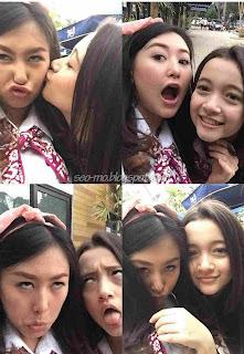 Foto Melly Dengan Megan Pemain Anak Jalanan RCTI