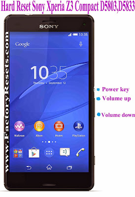 Hard Reset Sony Xperia Z3 Compact D5803,D5833