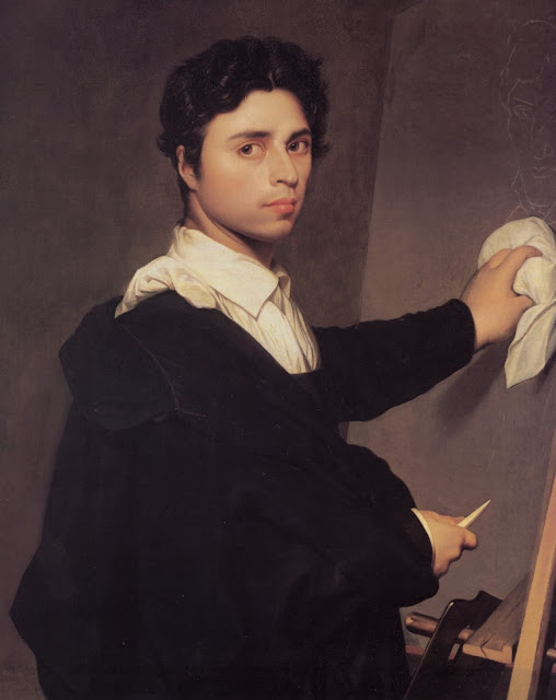 Self Portrait,Jean Auguste Dominique Ingres,neoclassical painting