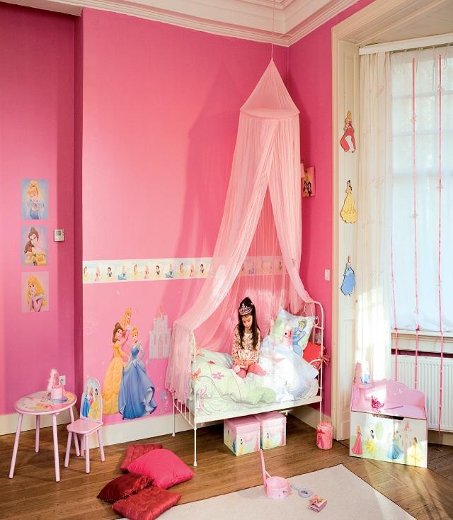 Chambres en rose princesse disney b b et d coration chambre b b sant b b beau b b for Chambre princesse disney