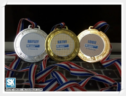 Medals for Top Three