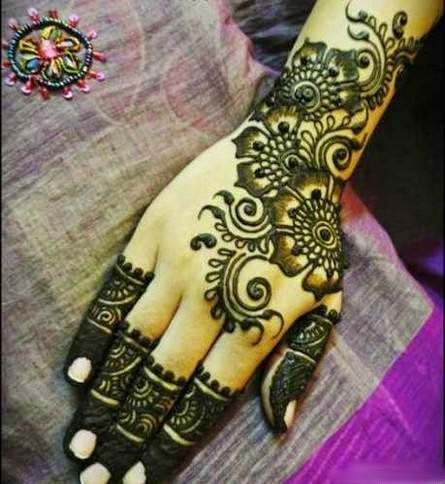 Bridal mehndi designs simple