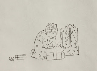 Kay, Christmas, presents, boxes, investigates, Paul, child, Sarah Myers, S. Myers