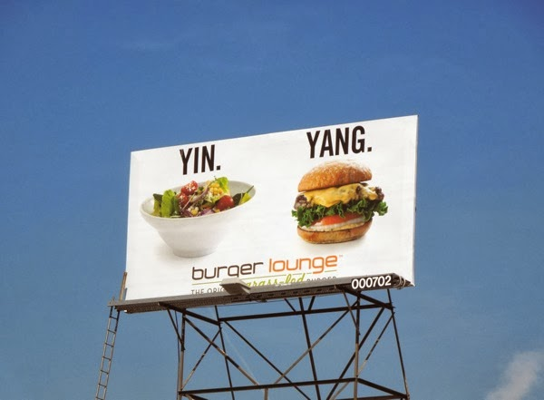 Yin Yang Burger Lounge billboard
