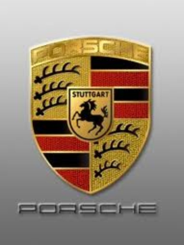 Black Porsche Logo Wallpaper
