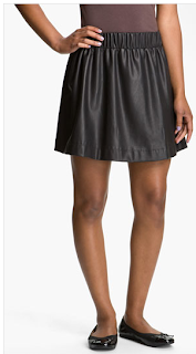 Lily White Faux Leather Skirt