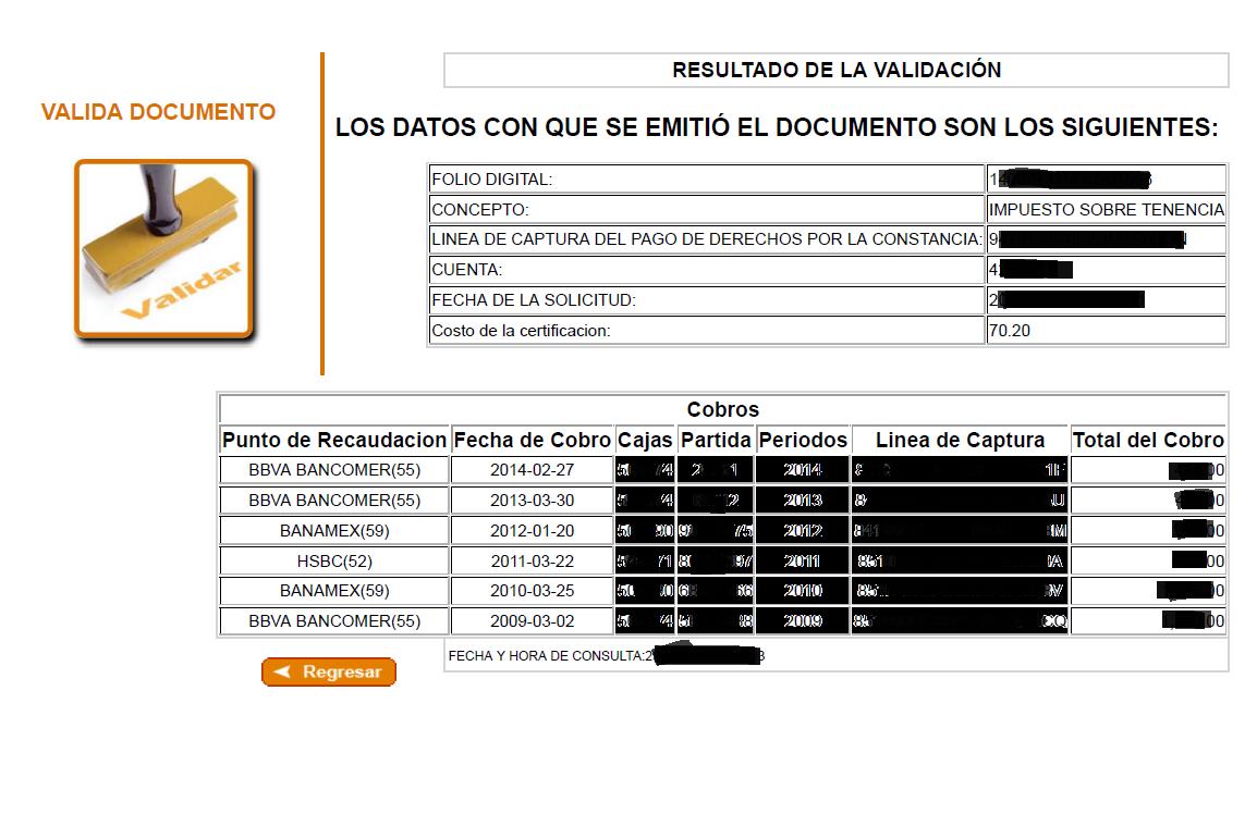Certificacion De Tenencia Df | adeudo vehicular distrito
