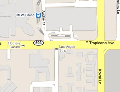las vegas map 2011. las vegas map of the strip