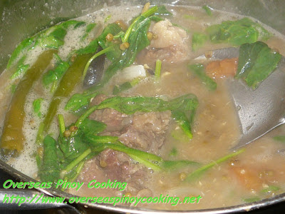 Ginisang Munggo with Oxtail - Cooking Procedure