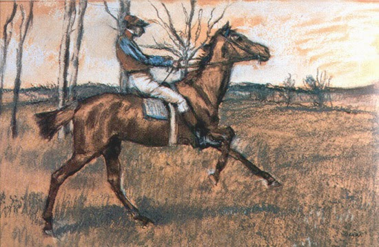 Degas. Jockey de perfil. 1889