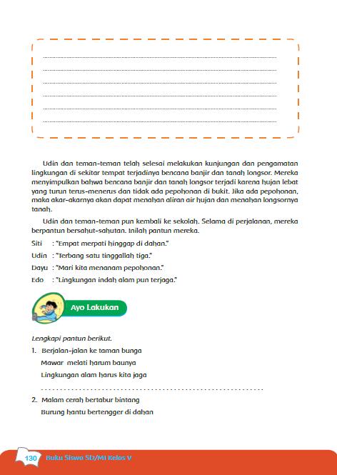 Soal dan Jawaban PR Bahasa Indonesia Kelas V