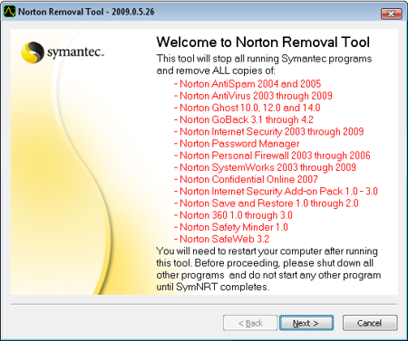 antivirus removal tools