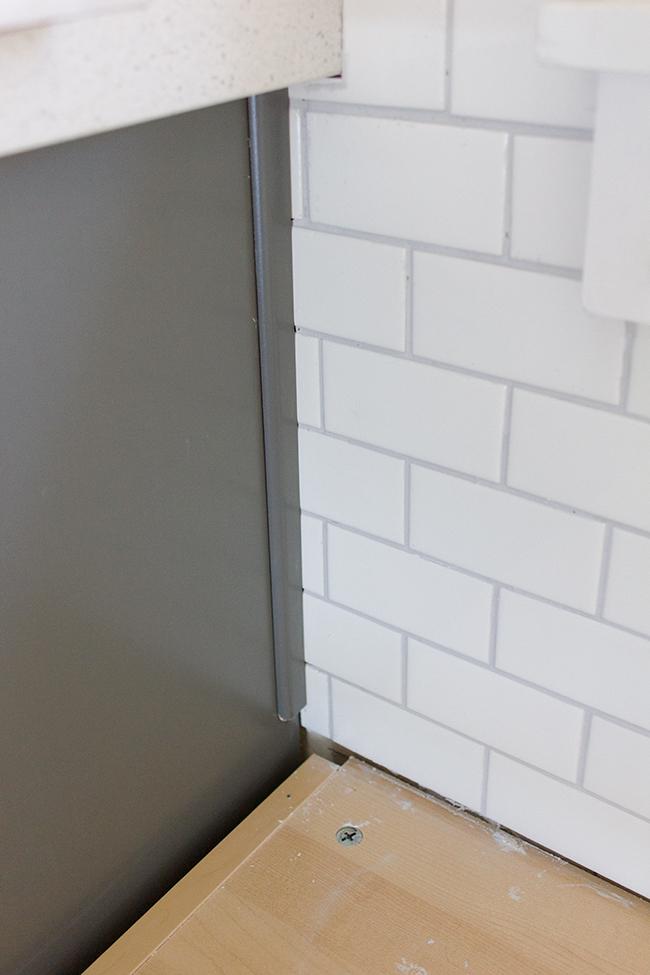 Amazing Kitchen Decorating Ideas Chronicles A DIY Subway Tile Backsplash Part 2