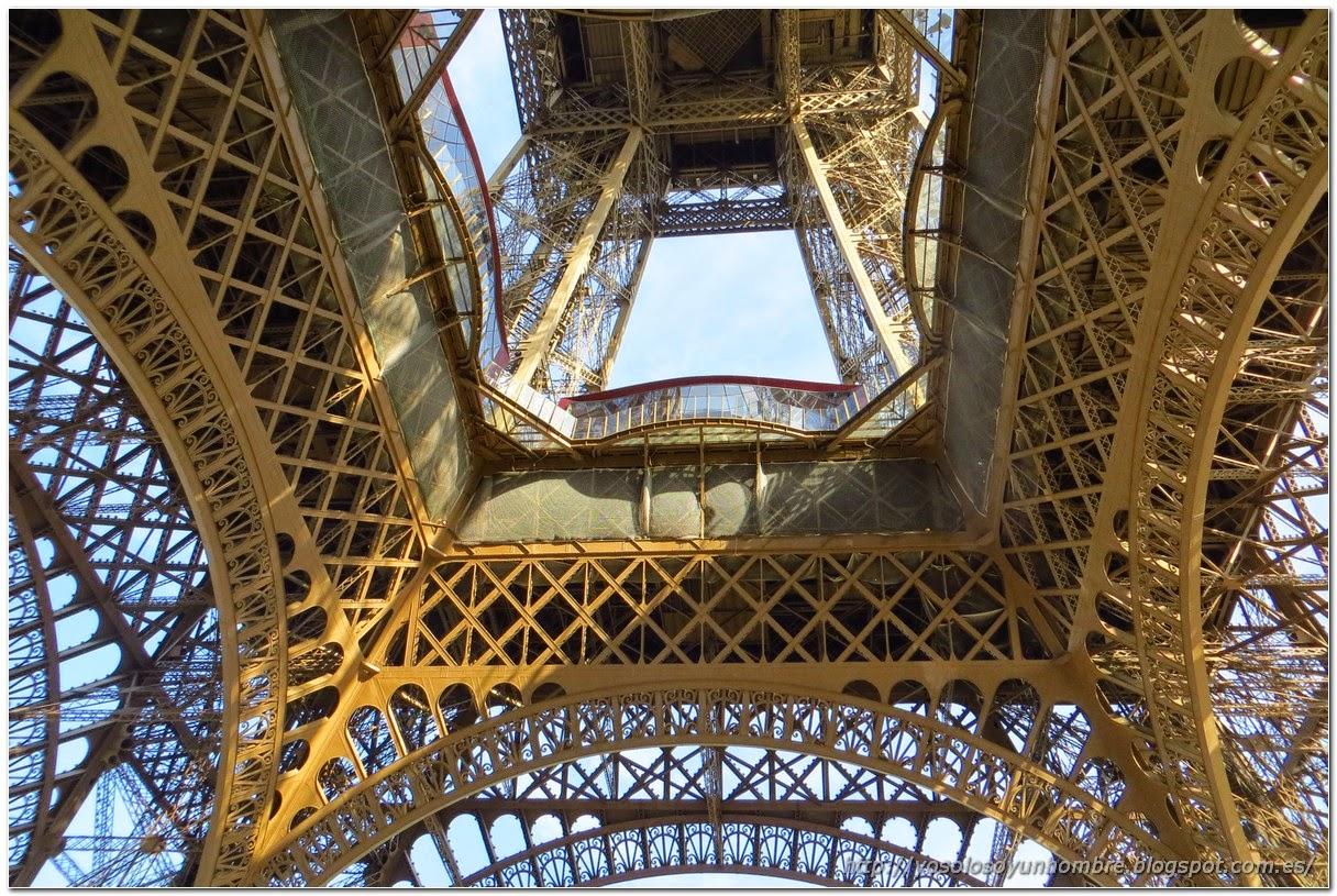 La Torre Eiffel desde debajo
