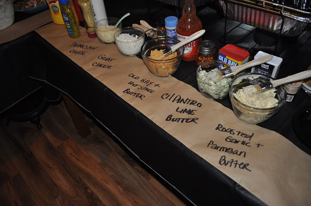 corn on the cob, corn, corn bar, infused butters, butter, toppings, birthday party