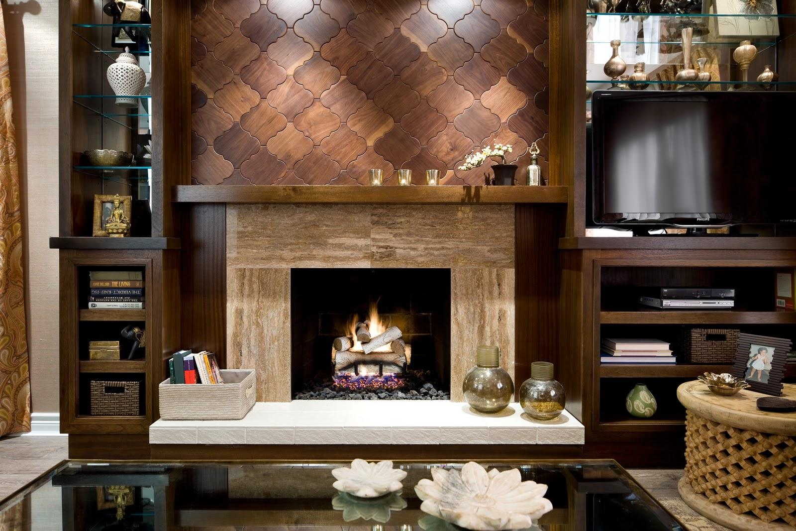 8x36 White Woodridge Honed Limestone Tiles Fireplace surround