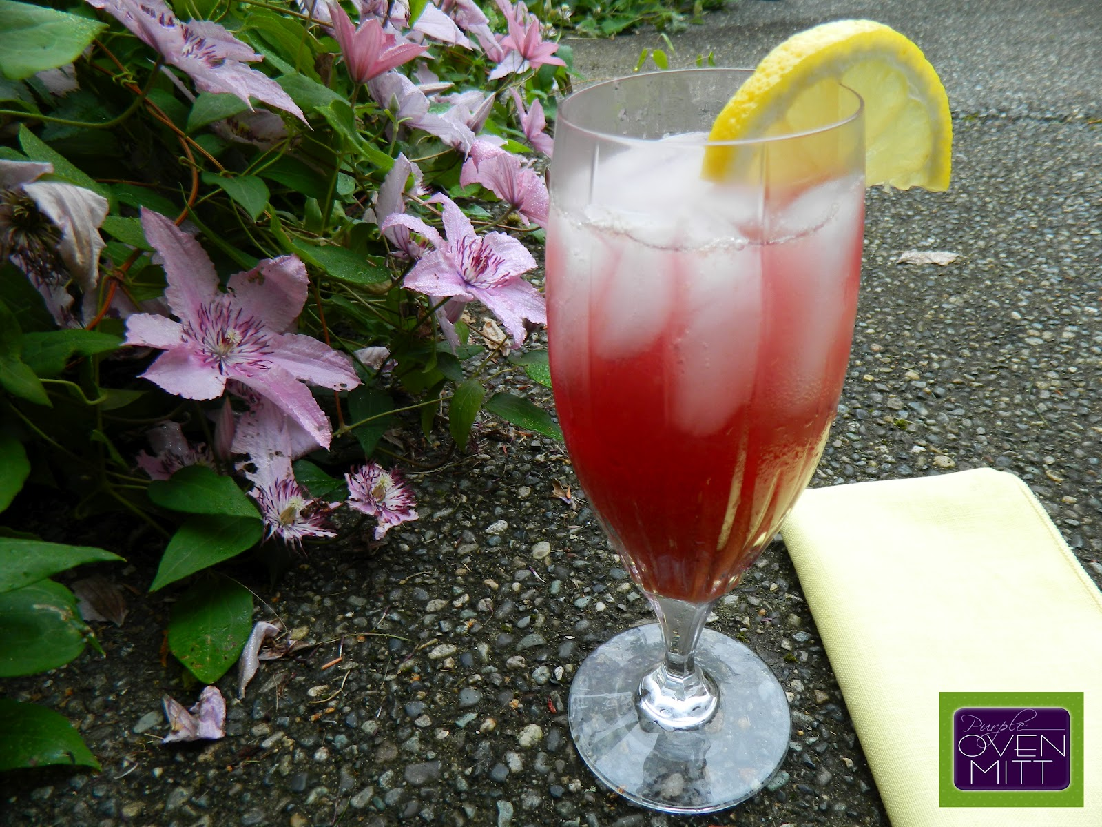 ... Family Blog | Purple Oven Mitt : Blueberry Lemon Mint Iced Green Tea