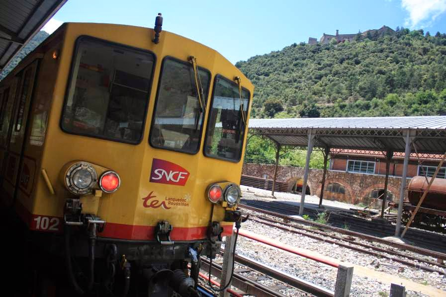 Train Jaune in Villefranche de Conflent