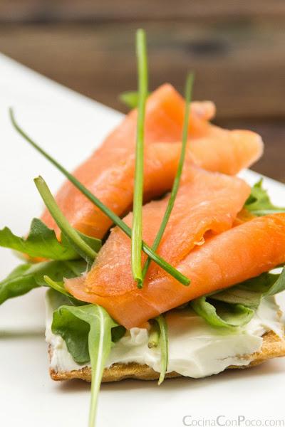Tosta de salmon ahumado