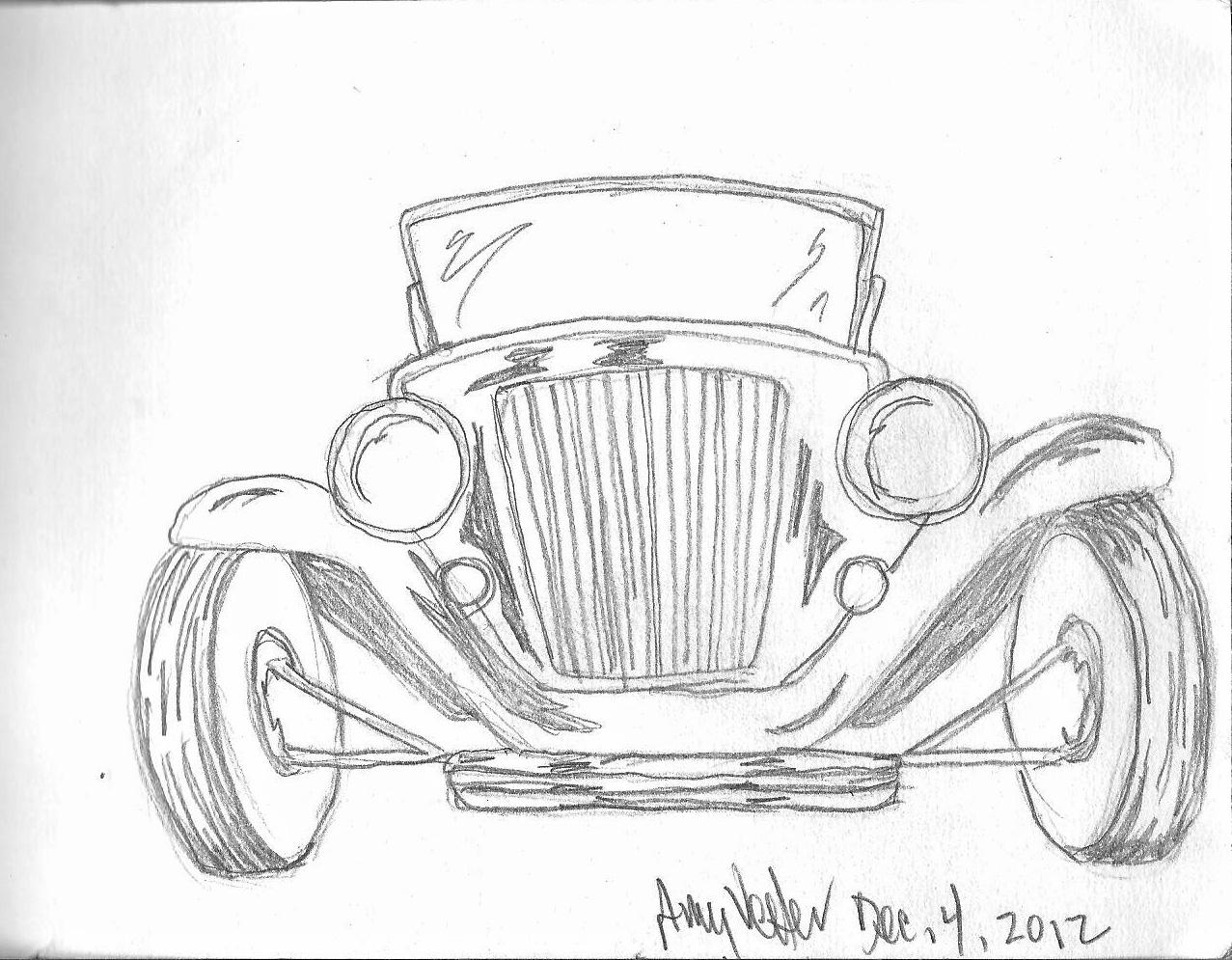 Amy\'s Art Journal: Vintage Car