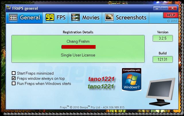 fraps full registered download