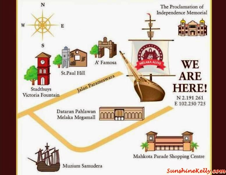 Melaka Alive, 5D Experience, Malacca, Alive Theatre, Cultural Show, Melaka Alive Location Map