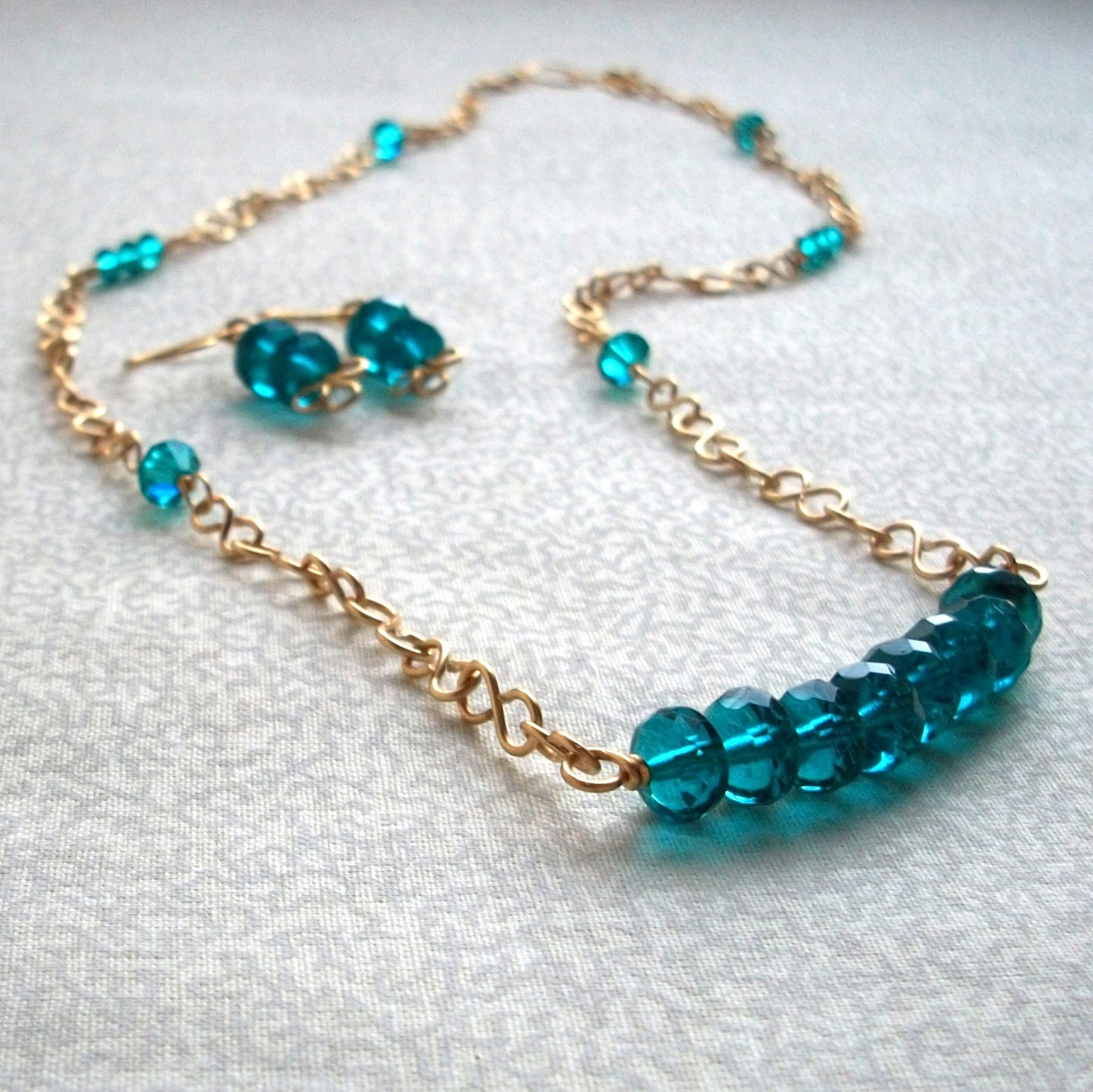 Topaz Blue Custom Jewelry Set
