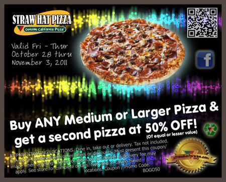 Straw Hat Pizza Coupons Pleasanton Ca Gp Coupon Code