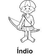 Atividades e Desenhos para o Dia do Índio para colorir e pintar (desenhos para colorir indio)