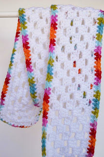 Granny Stitch Scarf by Over The Apple Tree