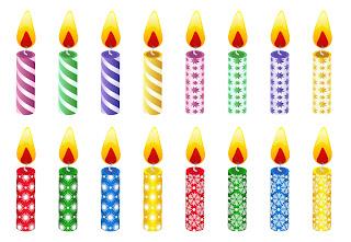 Dibujos velas cumpleaños para imprimir