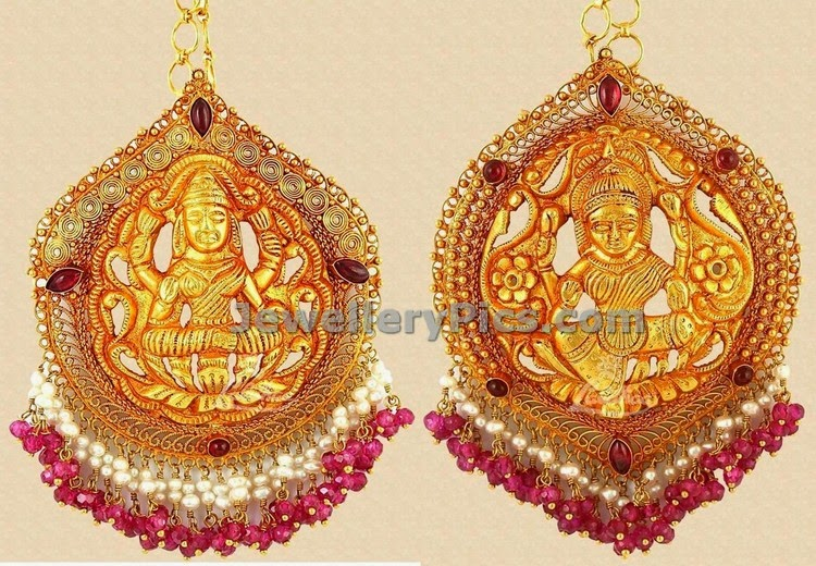 lalithaa jewellers lakshmi devi locket designs