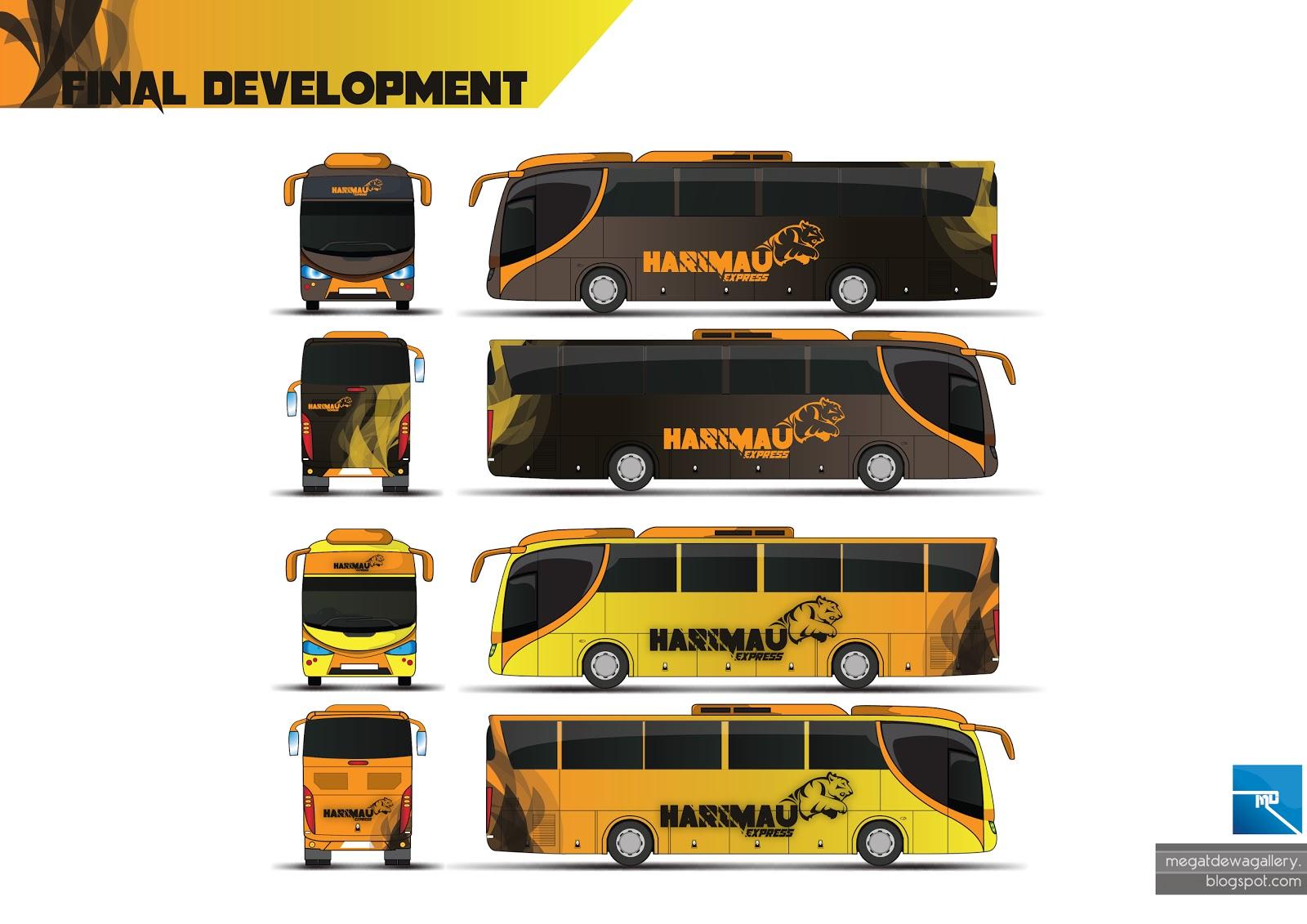 megat dewa  bus design  typography