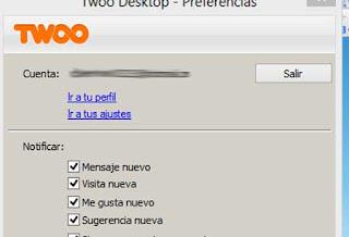 Configuracion Twoo Desktop
