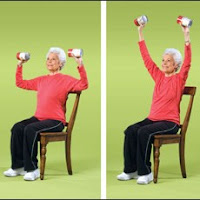 Senior lady exercising