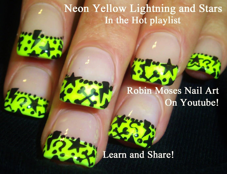 Nail Art By Robin Moses Summer Nails Neon Nails Neon Nail Art