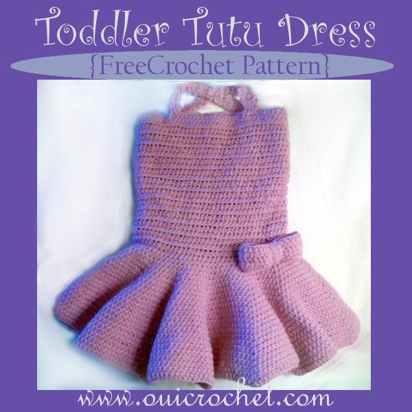 Oui Crochet Toddler Tutu Dress Free Crochet Pattern