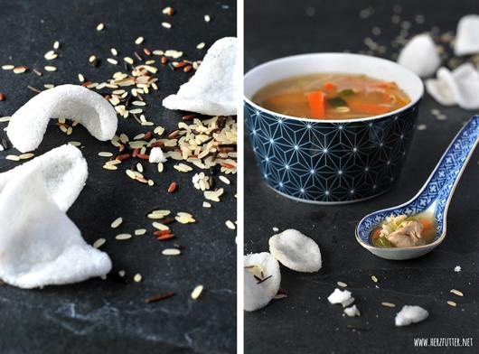Asiatische Reissuppe
