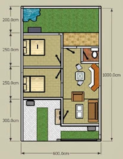 75 gambar denah rumah minimalis