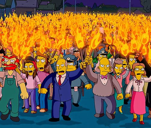 Simpsons Torch Mob, the village raising our children