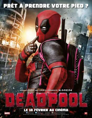 Poster Of Deadpool 2016 Dual Audio 720p  ORG [Hindi - English]  Free Download Watch Online Worldfree4u