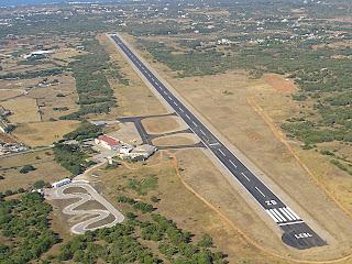 L'aeròdrom de Sant Lluís a Menorca.